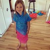 We had some tissue paper...decided to make a dress! #inspiredbymayhem
