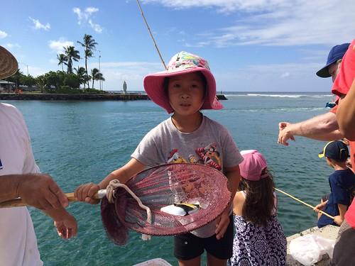 Aki caught a Humuhumunukunukuapua'a