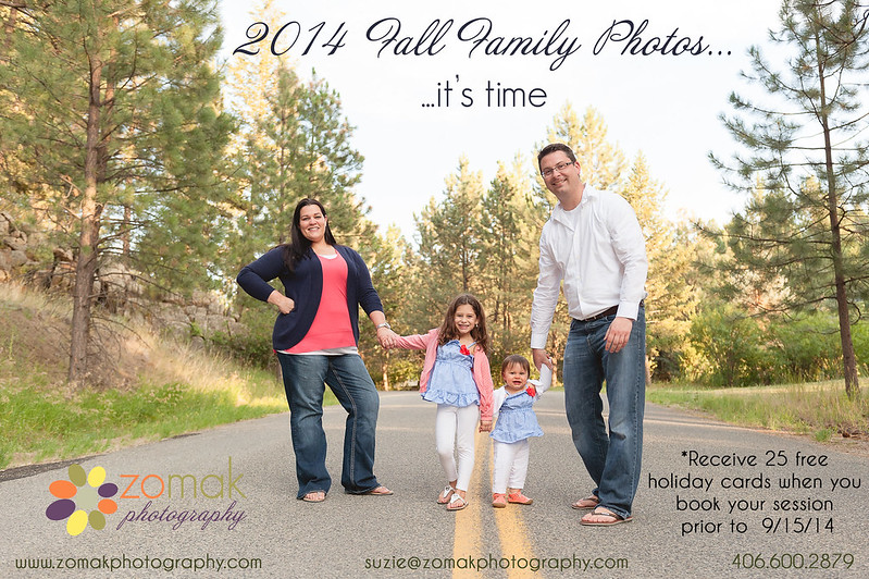 2014 Fall Family Session Flyer