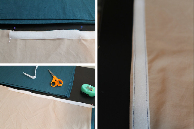 DIY Pleated Bedskirt Attach Velcro