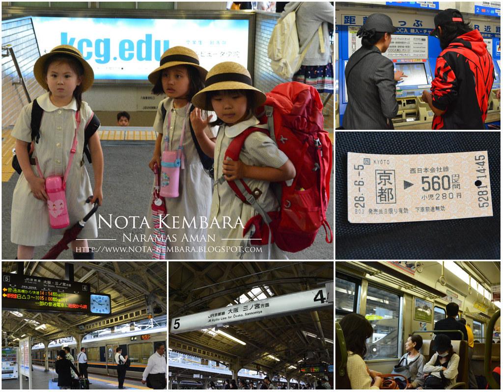 Backpacker Ciput Main Redah di Jepun 14 Dari Kyoto ke Osaka dan Mencari Rumah Untuk Bermalam