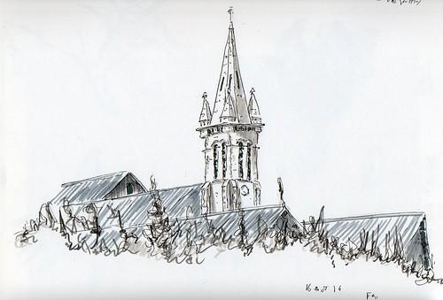 Vu de la chapelle en Valjouffrey