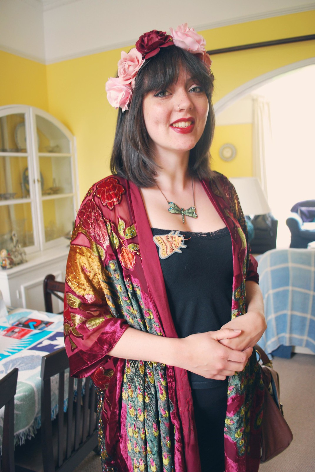 flower crown kimono fashion