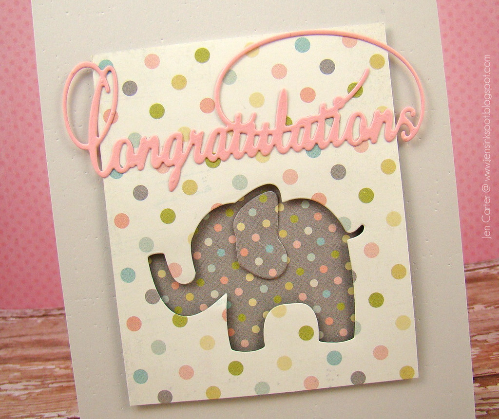 Baby Animals Elephant Congratulations Closeup