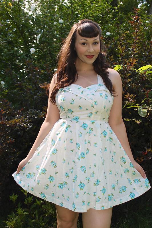 Forever 21 floral halter dress