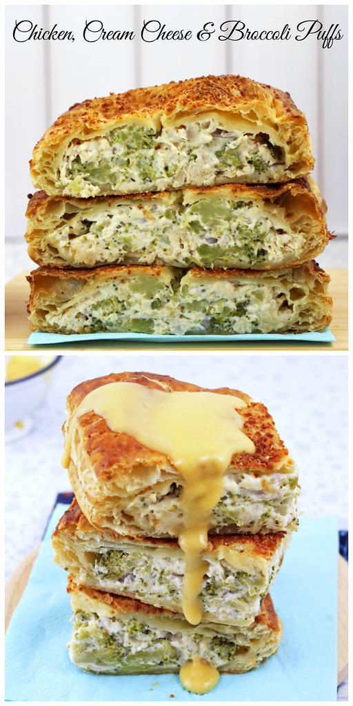 Chicken, Cream Cheese & Broccoli Puffs