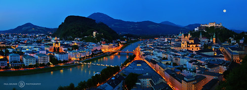 Panoramic of Salzburg, Austria