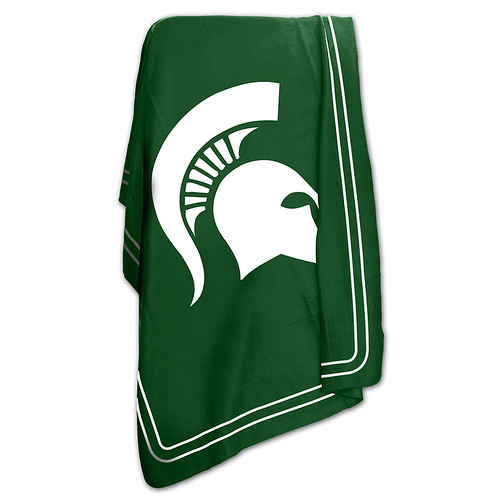 Michigan State Spartans NCAA Classic Fleece Throw