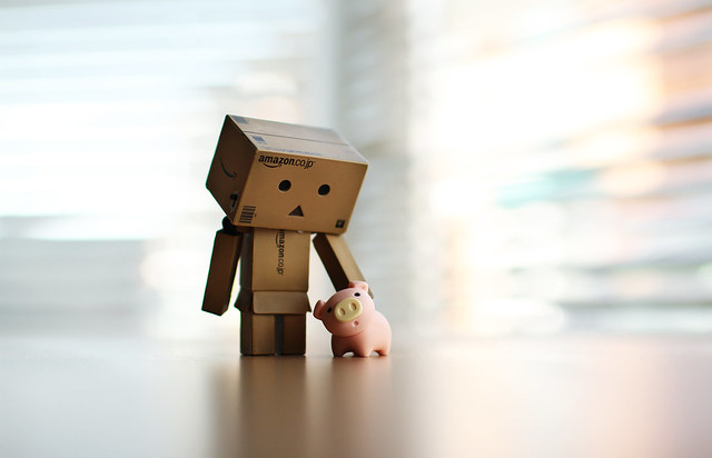 Danbo & little pig | 7D