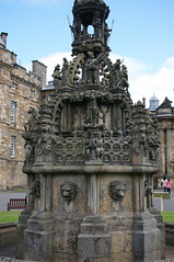 forecourt fountain, Holyrood Palace, Edinburgh, Scotland