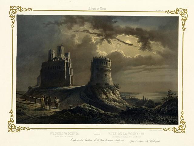 011-Ruinas del castillo de Ostrogue-Album Vilnius-Biblioteca Polona