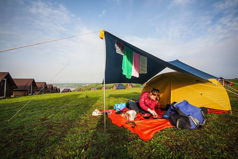 Kiritappu Cape campground (free) at Kiritappu, Hokkaido, Japan