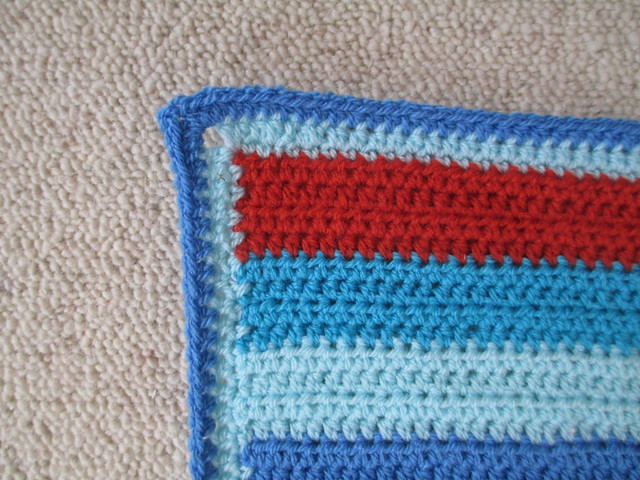 Seaside baby blanket