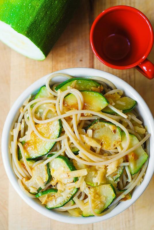 zucchini dinner recipe, vegetarian gluten free pasta