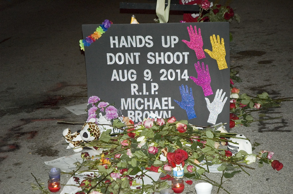 a memorial for michael brown