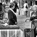 Picking up news at the market by Elenovela