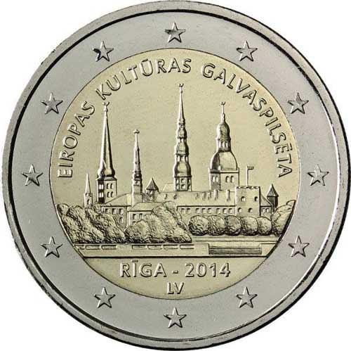 2 Euro Lotyšsko 2014, Riga