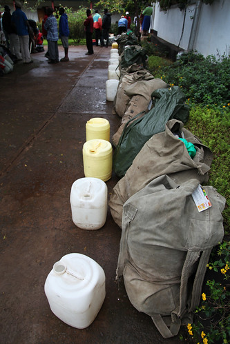The bags the porters carried up to 4,700m (Mt. Kilimanjaro, Tanzania)