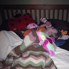 Last sleep before #school. Yes, she is sleeping sideways. #sobig #goof #sleep
