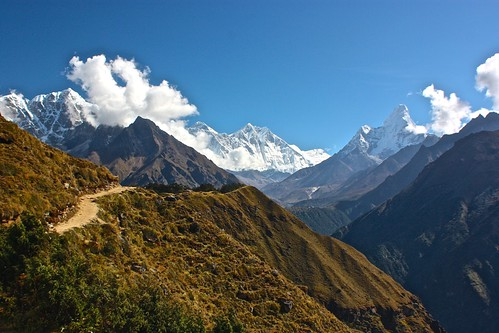 Mt. Arkamste, Tabuche, Everest, Lhotse, Shirtse, and Amadablam