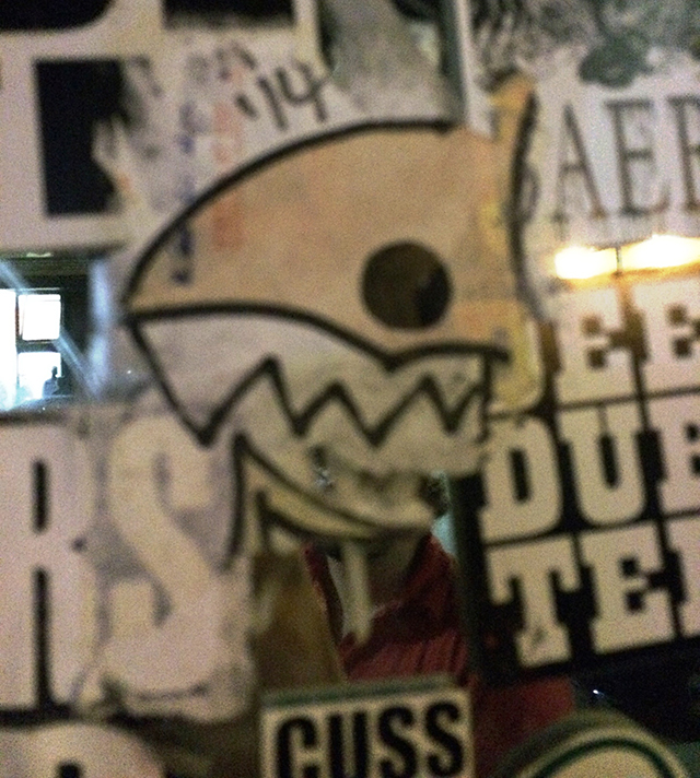 graffiti shark sticker, Oakland 9/13/2014