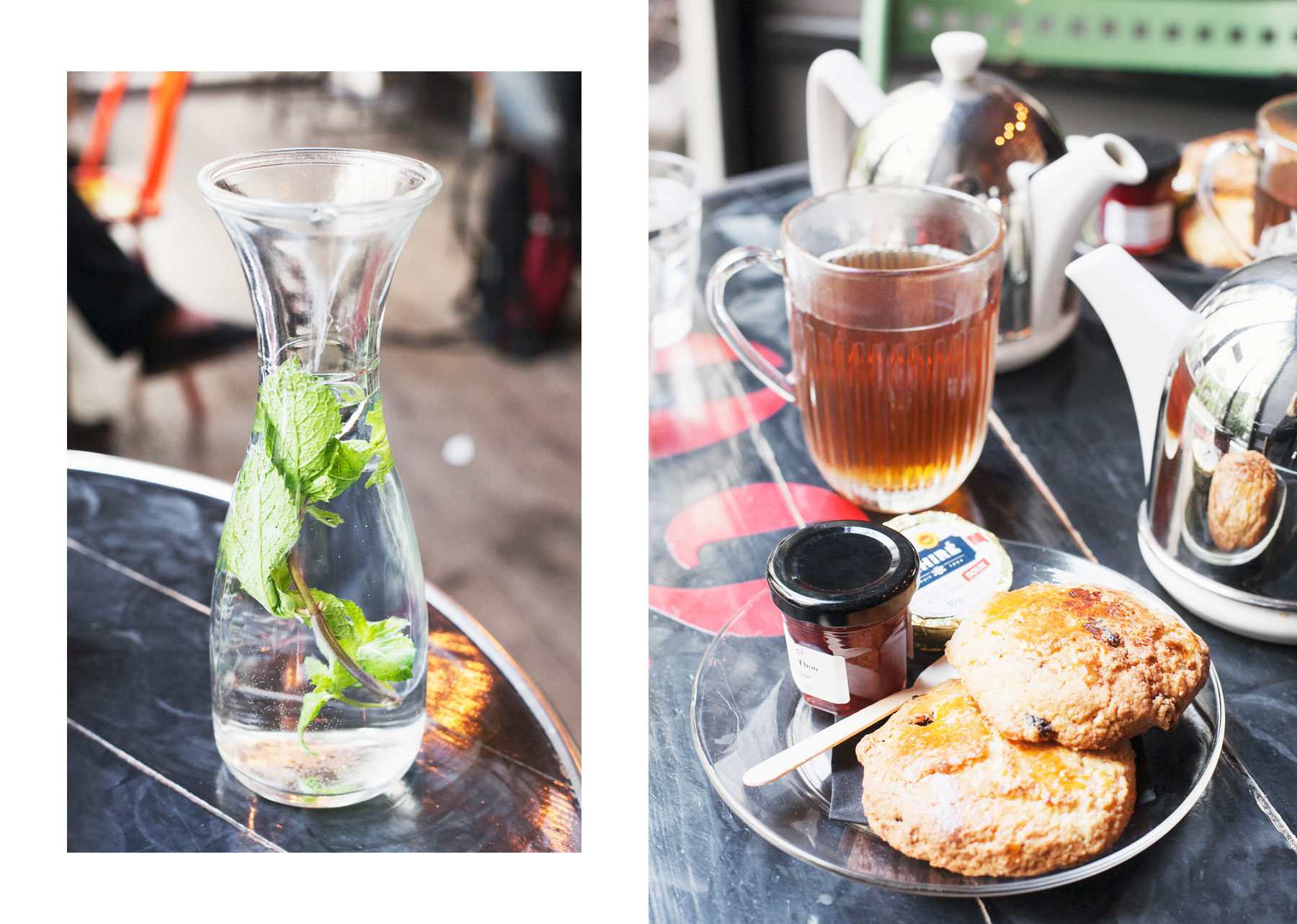 Tea and scones at Merci by Carin Olsson (Paris in Four Months)