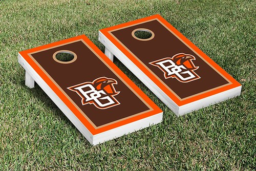 Bowling Green Falcons Cornhole Game Set Border Version