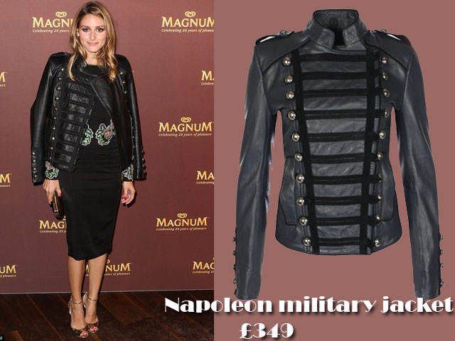 Napoleon-military-jacket-for-autumn-winter,Military leather jacket, military jacket, Autumn-winter must have jackets, how to style a military jacket, gold Jimmy Choo heels, gold clutch, Rachel Gilbert. Gown, Rachel Gilbert. Dress, pencil dress, Boda skins Napoleon military jacket, Napoleon military jacket