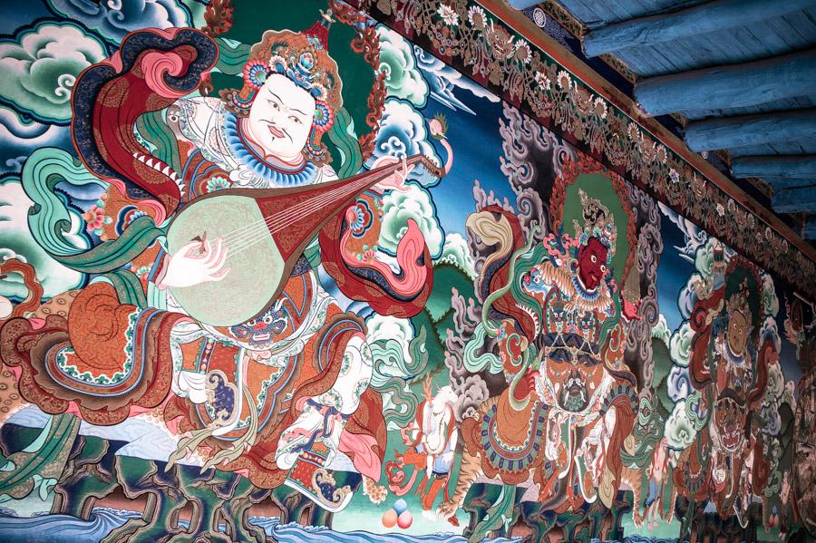 Хранители направлений пространства при входе в гомпу (монастырь Стакна) © Kartzon Dream - авторские путешествия, авторские туры в Ладакх, тревел фото, тревел видео, фототуры