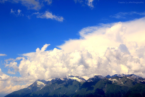 sky mountains nature clouds landscape