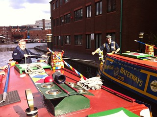 Scorpio and Leo heading out of Gas Street | by Heritage Working Boats Group