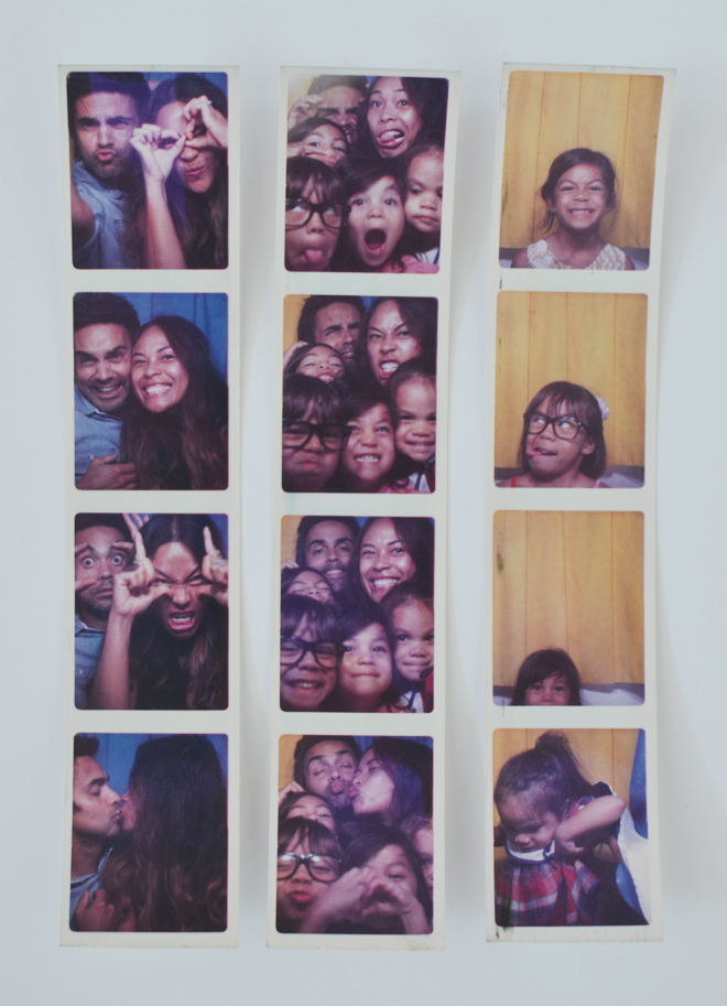 family Photo Booth strips