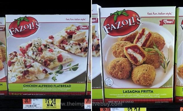 Fazoli's Chicken Alfredo Flatbread and Fazoli's Lasagna Fritta