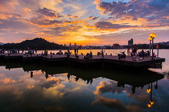蓮池潭夕陽 Lotus Pond sunset,Kaohsiung,Taiwan