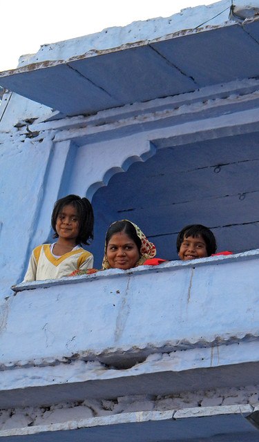 Balcony in Beautiful Blue Bundi