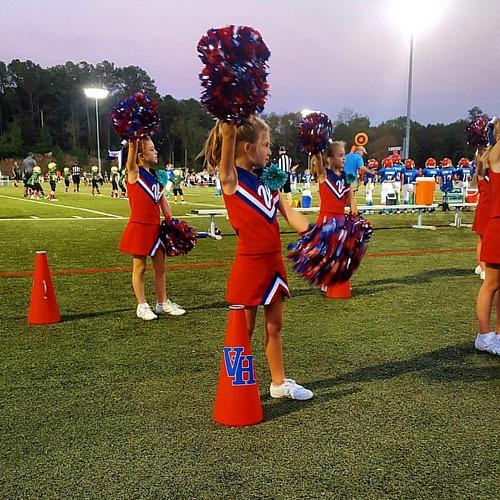 Go Tristan! #homecoming #cheerleading #vestaviahillsrebels #vestaviahills