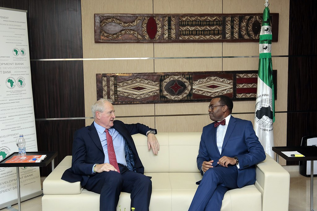 Meeting with Mr Adesina, Preident of the African Development Bank Group in Abidjan, Ivory Coast