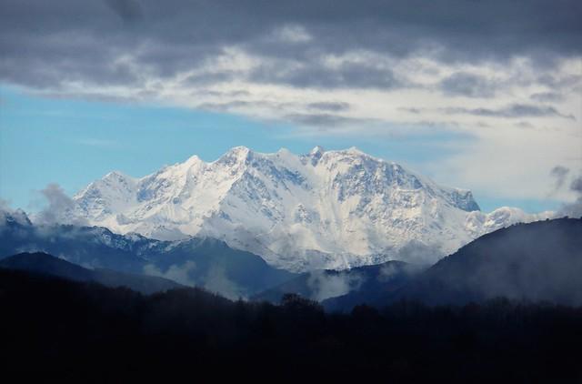 Monte Rosa visto dal Ticino / Malcantone / Novaggio