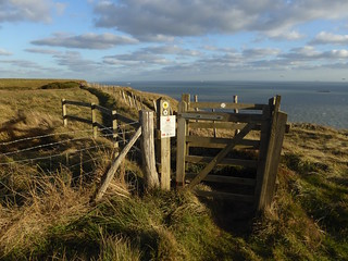 Gate on cliffs