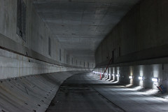 SR 99 tunnel interior roadway progress