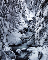 Winter Wonderland hike through deep snow and frozen waterfalls @la.cg