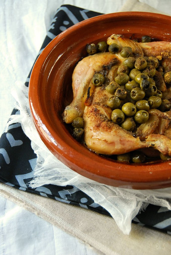 Cuisse de poulet au four à l'olive