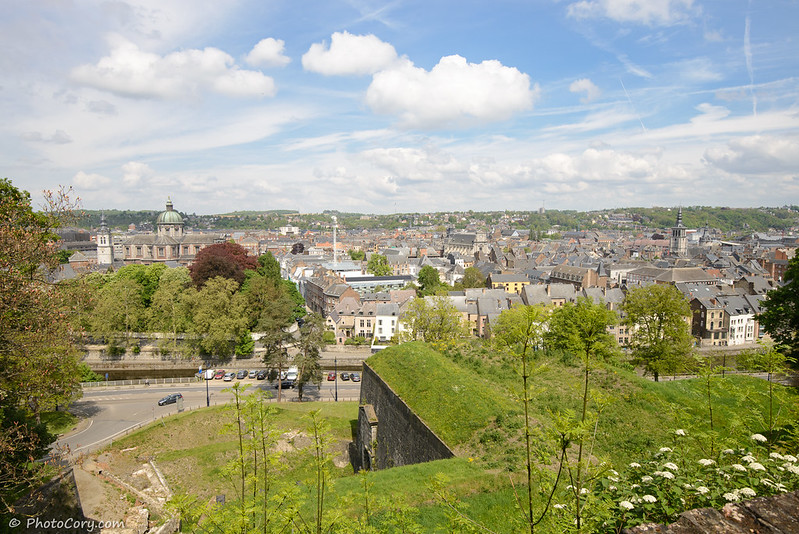 view from the Citadel in Namur
