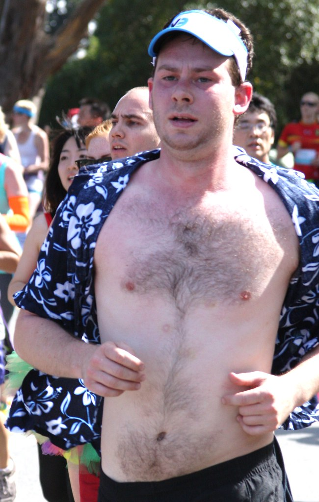 SEXY HUNK at the Bay 2 Breakers Race (safe photo)