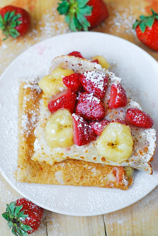 how to make crepes, strawberry recipes, banana crepes, crepes with ...