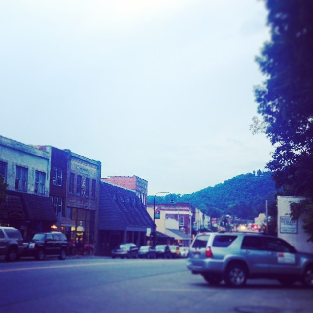 You gotta love a downtown with a mountain view.