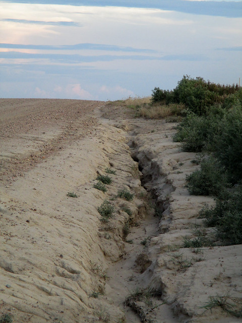 Washouts in the rural areas of Goodland
