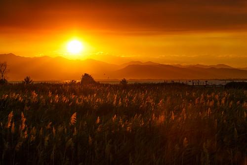 sunset landscape smoke scenic explore