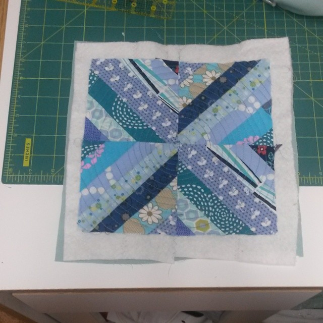Panel for August Superswap #spiralquilting