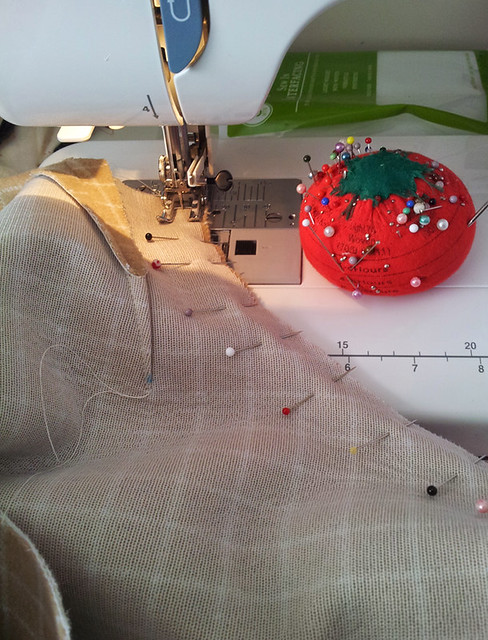 sewing jacket front to sleeves